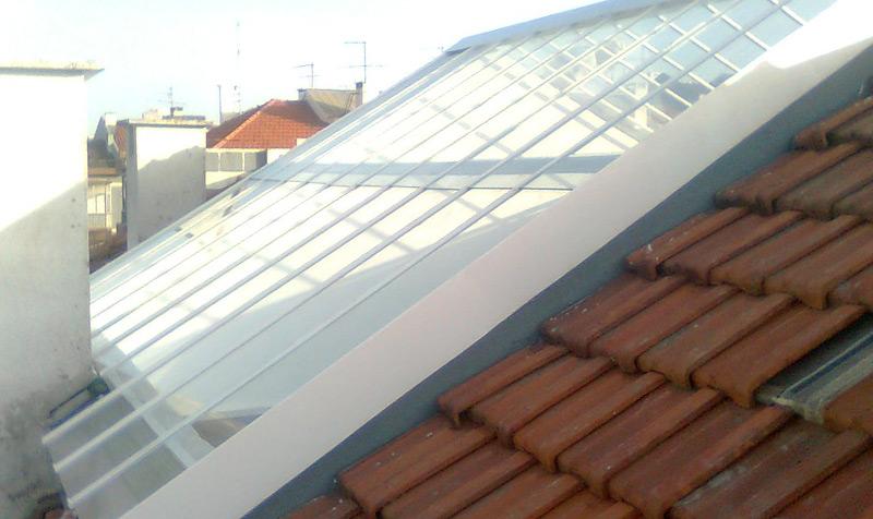 Reparação e instalação de claraboias