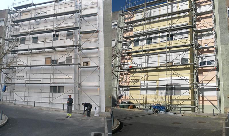 Pintura e reabilitação de fachadas