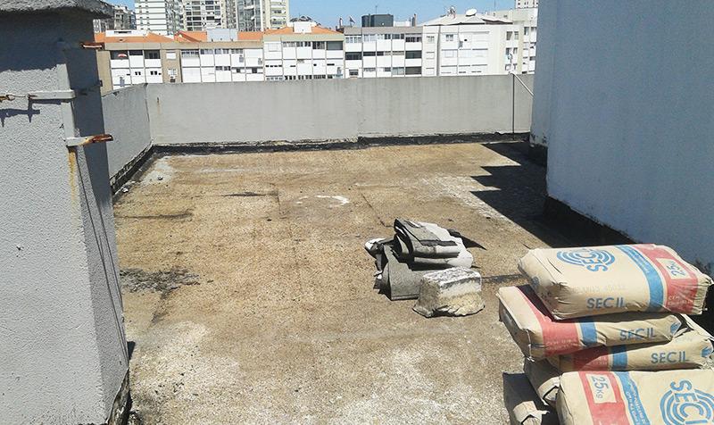 Isolamento e impermeabilização de terraços em Moinhos da Funcheira